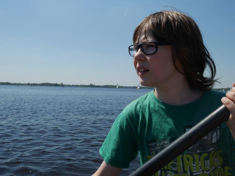 Kanu fahren auf dem Zwischenahner Meer.