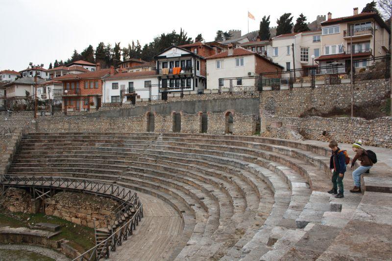 Amphietheater von Ohrid, Mazedonien.