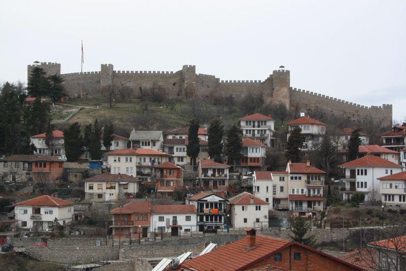 Festung über Ohrid, Mazedonien.