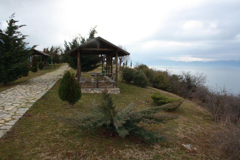 Kastell mit Picknickplatz bei Ohrid, Mazedonien