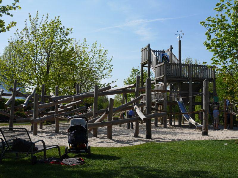 Der Kletterspielplatz im Park der Gärten, Bad Zwischenahn.