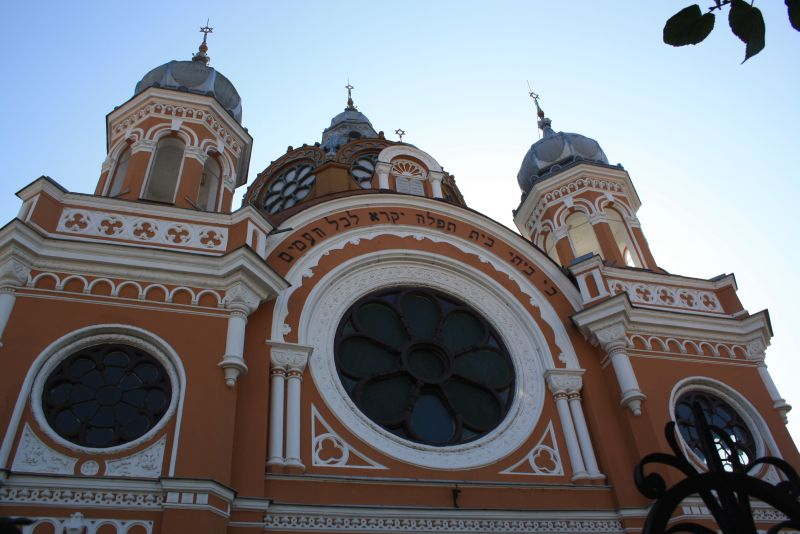 Die Synagoge von Targu Mures von außen.