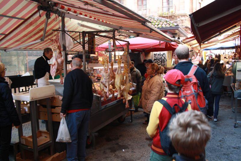 Markt in Catania, Sizilien, Italien
