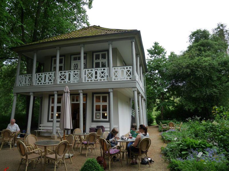 Das Teehaus im Kurpark von Bad Pyrmont hat uns super gefallen.