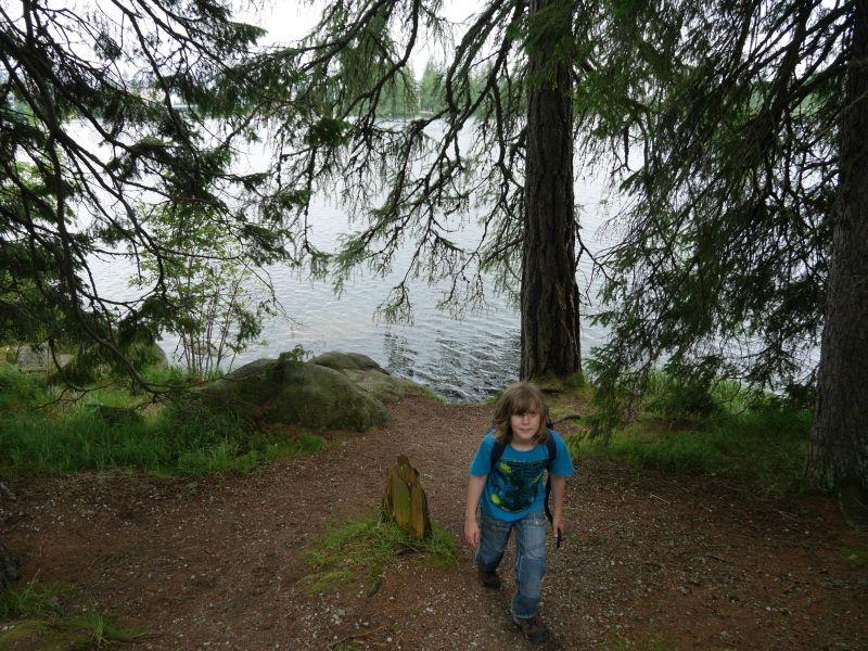 Tschirmer See, Hohe Tatra, Slowakei mit Kindern