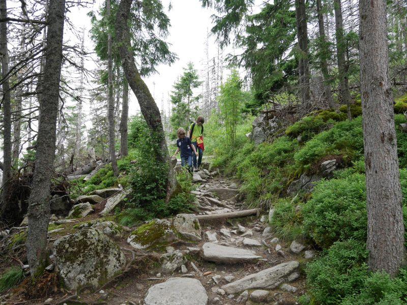 Hohe Tatra, Hrebienok, Wandern mit Kindern in der Slowakei