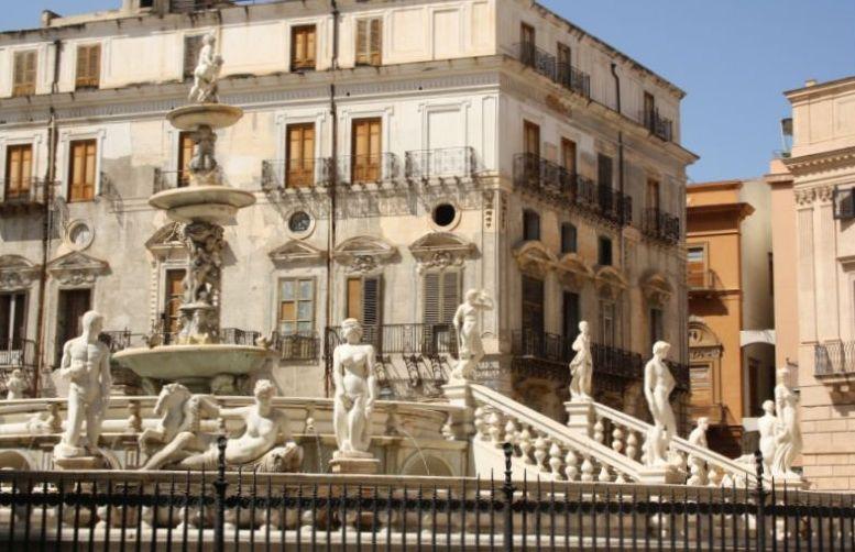 Fontana del Genio, Palermo, Sizilien