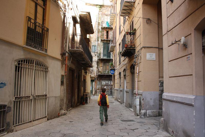 Stadtbummel mit Kind in Palermo, Sizilien