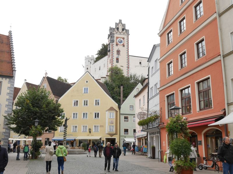 Fußgängerzone Füssen, Allgäu mit Kindern