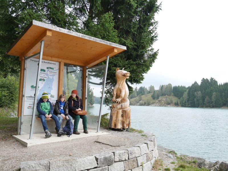 Boothaltestelle Roßhaupten, Forggensee, Allgäu mit Kindern und KönigsCard