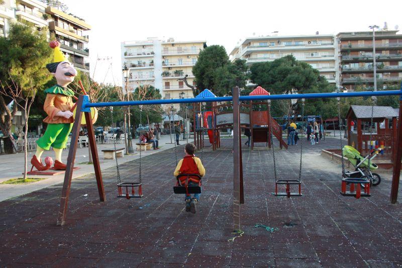 Spielplatz in Patras, Griechenland, Patras mit Kindern