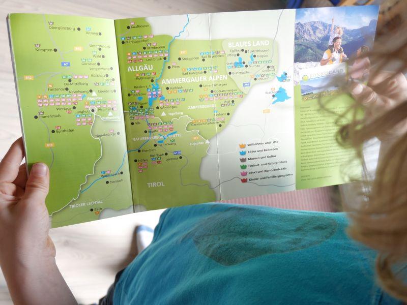 Allgäu mit Kindern und Königscard, Karte