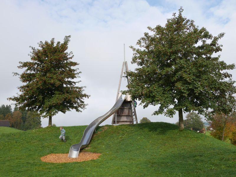 Familienurlaub in Roßhaupten, Spielplatz am Kurpark, Allgäu