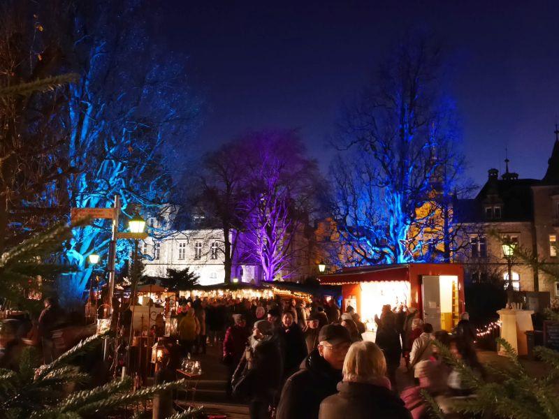 Weihnachtszauber Schloss Bückeburg mit Kindern, abends