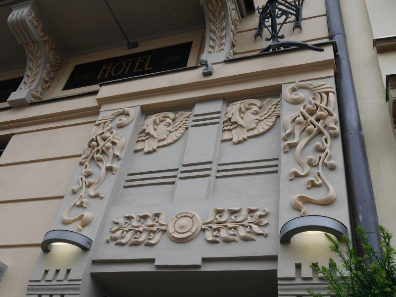 Fassade Hotel Slavia, Kosice, Slowakei, Jugendstil