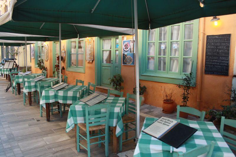 Nafplion, Peloponnes, Griechenland, Restaurant