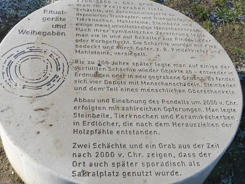 Ringheiligtum Pömmelte, Schönebeck, Sachsen-Anhalt, Infotafeln