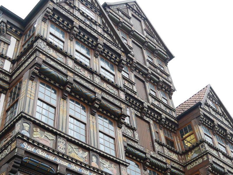 Hildesheim, Fachwerkhaus Fassade am Marktplatz, rekonstruiert