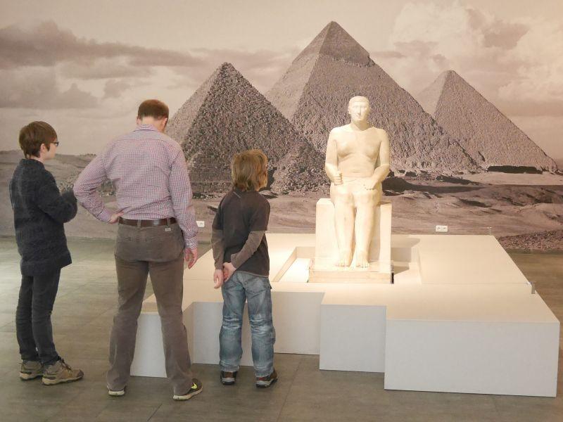 Hildesheim mit Kindern, Roemer- und Pelizaeus-Museum, Ägypten