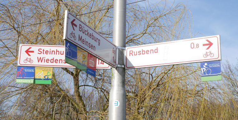 Fahrrad-Wegweiser Schaumburger Land, LandTour Bückeburg