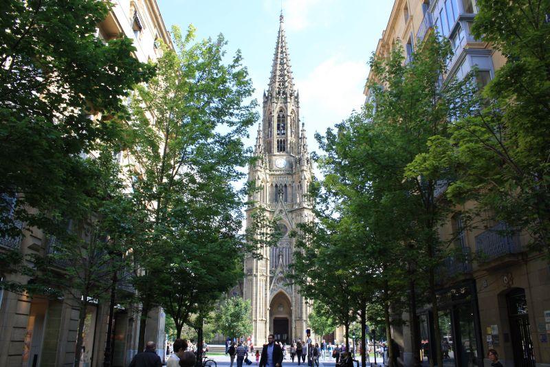 Donostia-San Sebastian, Stadtbild Kathedrale, Baskenland