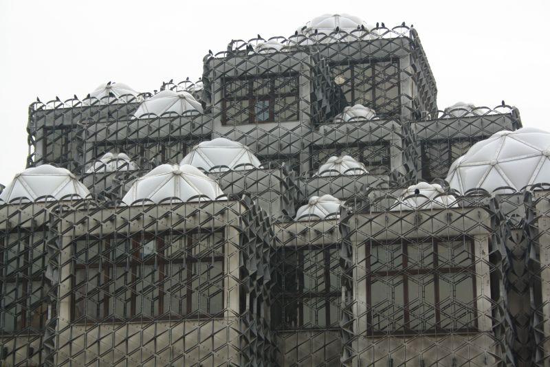 Die Universitätsbibliothek von Pristina, Kosovo