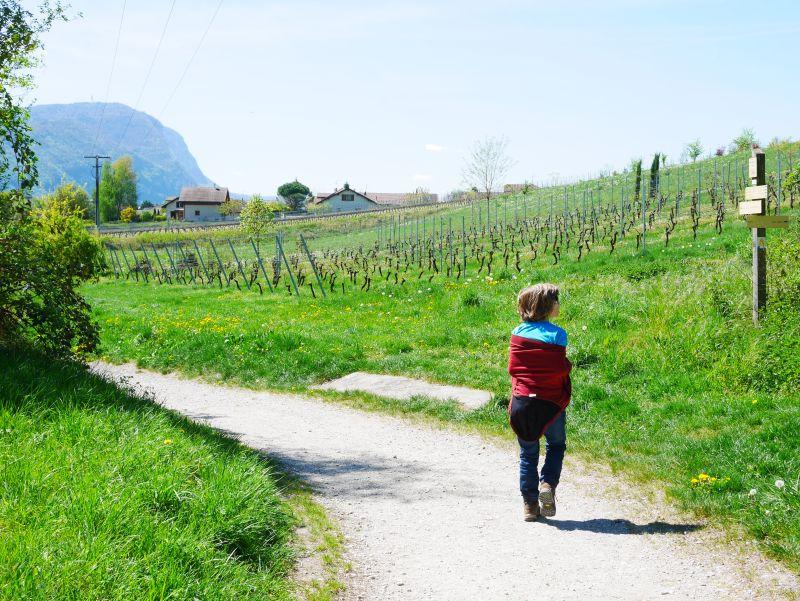 Backpacking mit Kind in der Schweiz, Annemasse, Frankreich