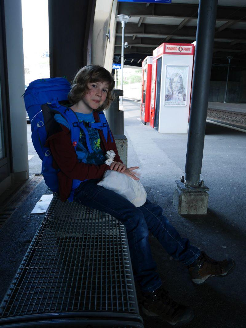 Backpacking mit Kind in der Schweiz, Bahnhof Pully, Lausanne