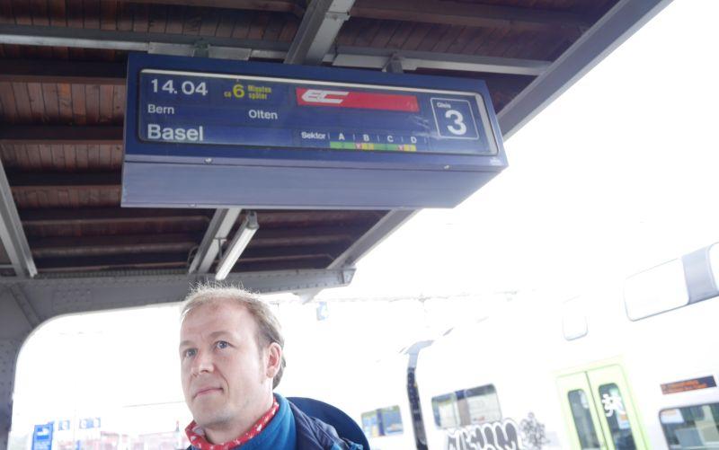 Zugverspätung in der Schweiz