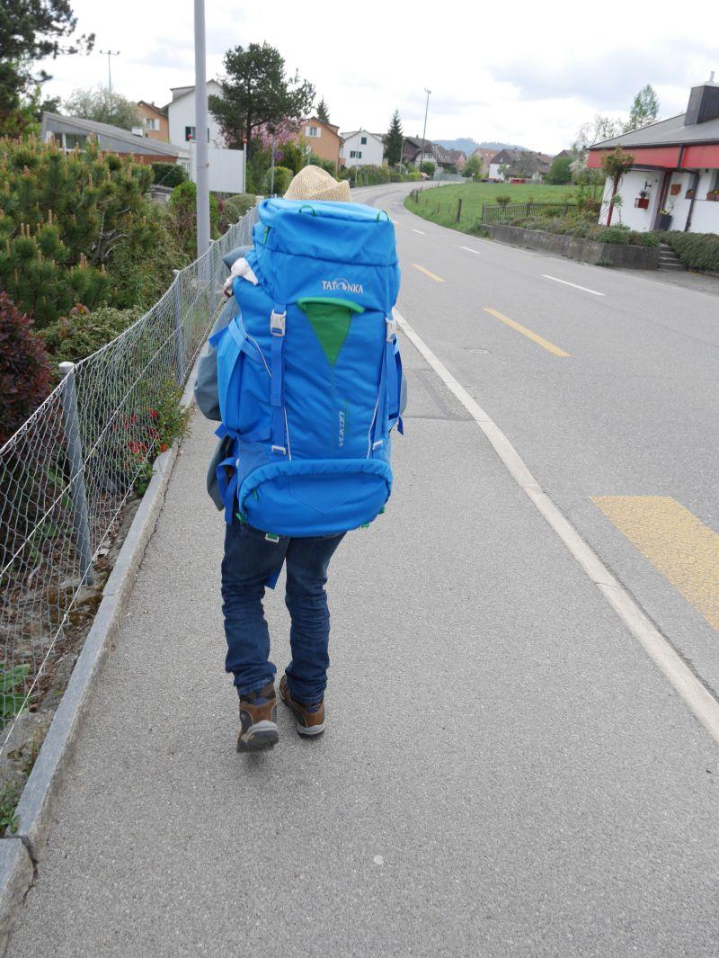 Backpacking mit Kind mit Rucksack