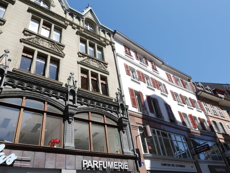 Lausanne mit Kind, Fassaden