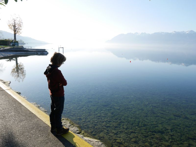 Lausanne mit Kindern, Badestelle Genfer See in Pully