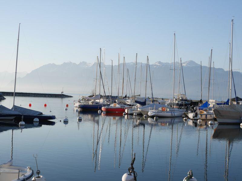 Hafen Pully, Lausanne, Genfer See, Schweiz