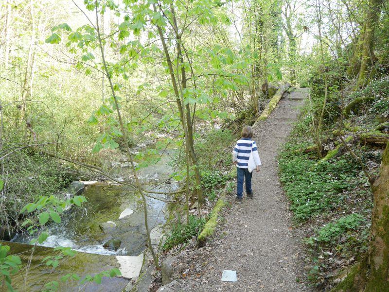 Fußweg durch Lausanne mit Kind