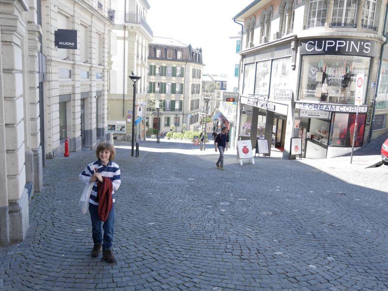 Lausanne mit Kindern, Fußgängerzone