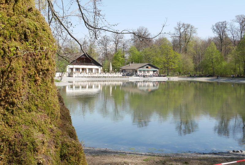 Lausanne mit Kind, Lac de Sauvabelin