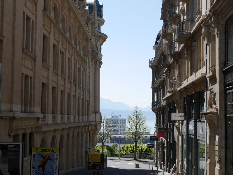 Lausanne Zentrum, Blick auf den Genfer See