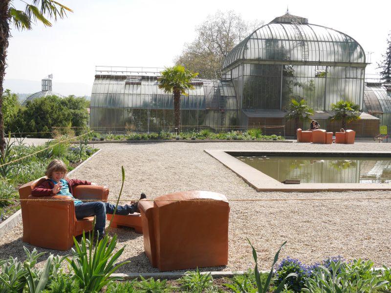 Botanischer Garten, Genf mit Kind