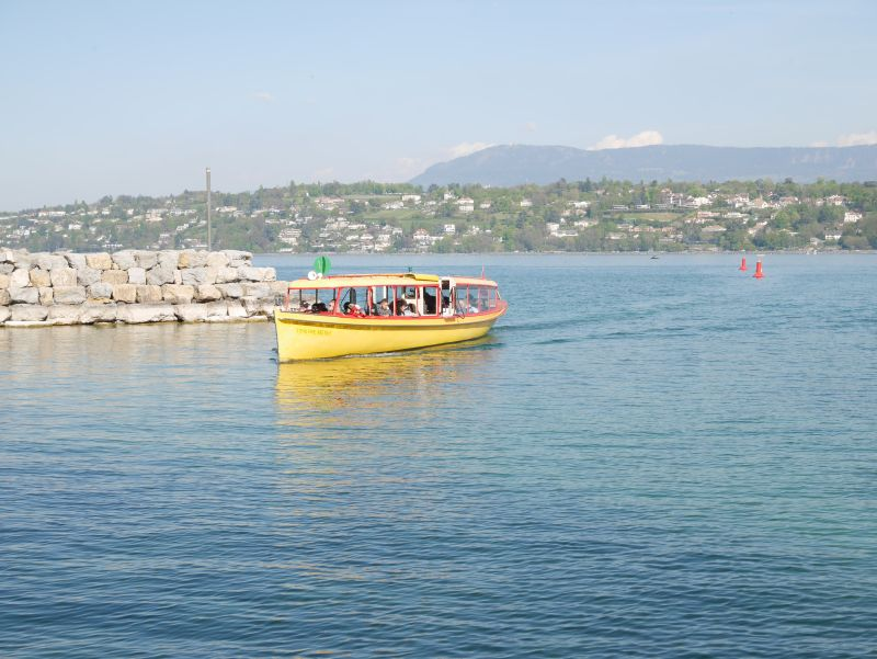 Genf mit Kind, Bus Boot über Genfer See