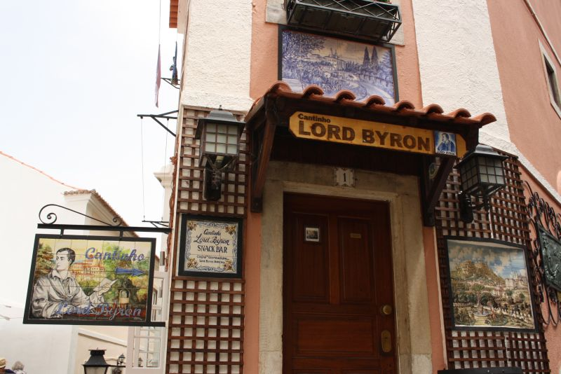 Lord Byron in Sintra, Portugal