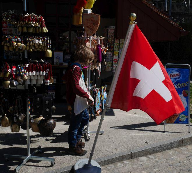 Montreux Schweiz mit Kind, Souvenirkitsch