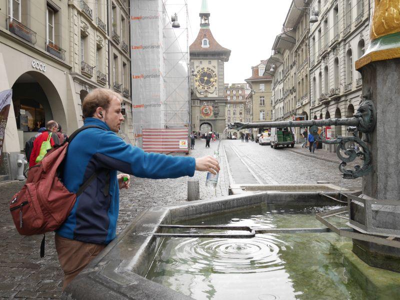 Alle Brunnen in Bern liefern frisches Trinkwasser.