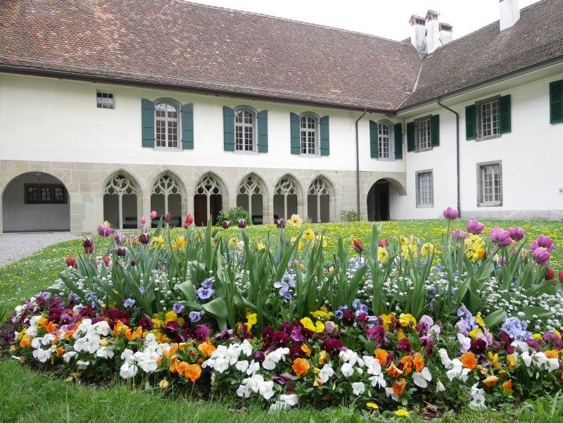 Schloss Interlaken, Innenhof Kreuzgang, Schweiz