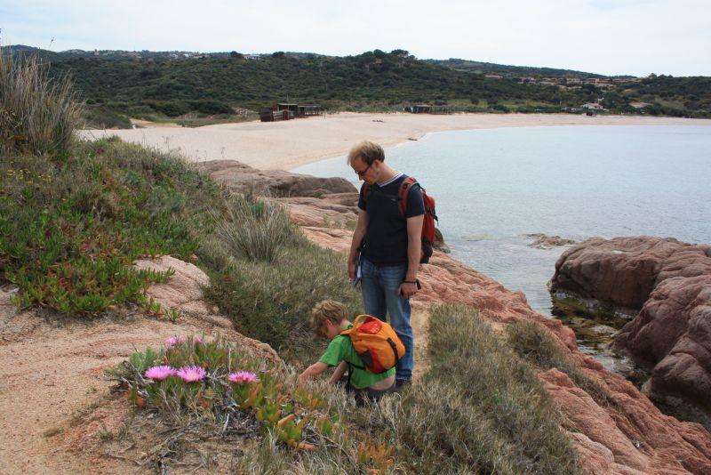Punta Caneddi, Isola Rossa, Wandern mit Kindern auf Sardinien