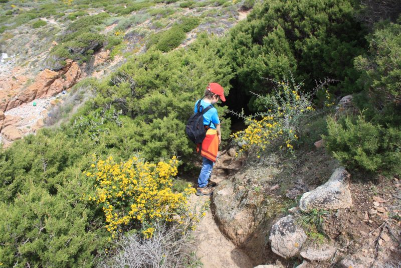 Wandern mit Kindern auf Sardinien, Macchia Tunnel