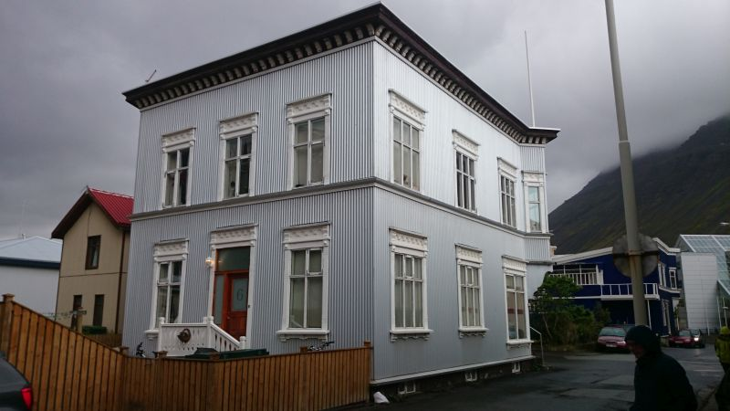 Isafj rdur island sch nes haus aluminium for Haus island