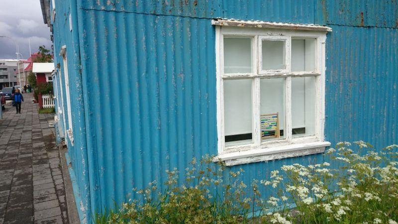 Isafjördur, Island, Haus mit Aluminiumverkleidung