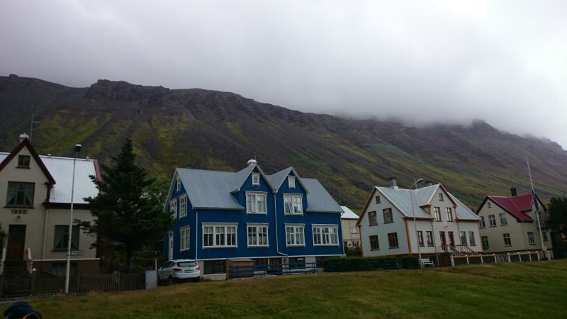 Isafjördur, Island, Wohngebiet