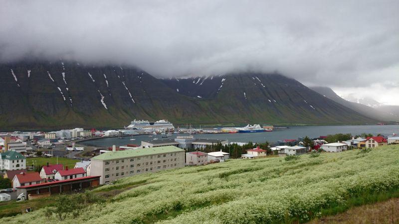 Isafjördur, Island, Ausblick auf die Stadt.