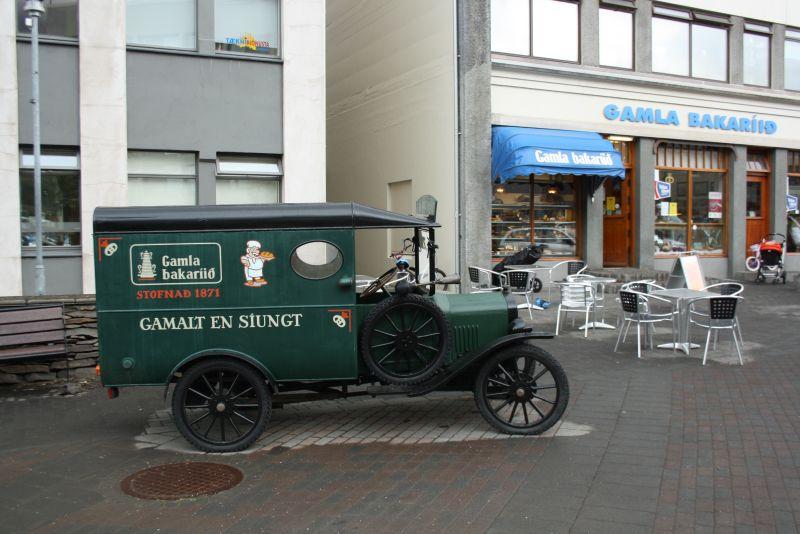 Isafjördur, Island, Stadtzentrum Bäckerei Café